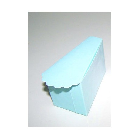 Caja forma pastel azul