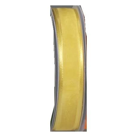 Cinta Organdí con ribete amarillo