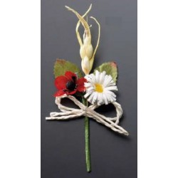 Ramillete flor roja/blanca
