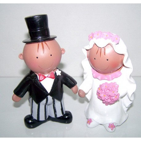 Figura para la tarta de bodas de la colección Pit y Pita morenitos