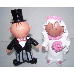 Figura tarta Pit y Pita morenita novios combinados
