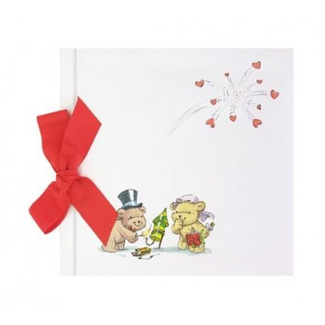 Libro firmas Boda osos con lazo, colección FRESCURA
