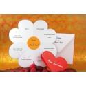 Invitación boda Pétalos corazón