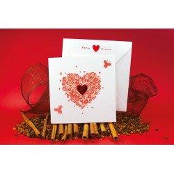 Invitación boda Corazón rojo brillo