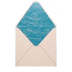 Pack de 25 sobres blanco brillo y forro interior olas
