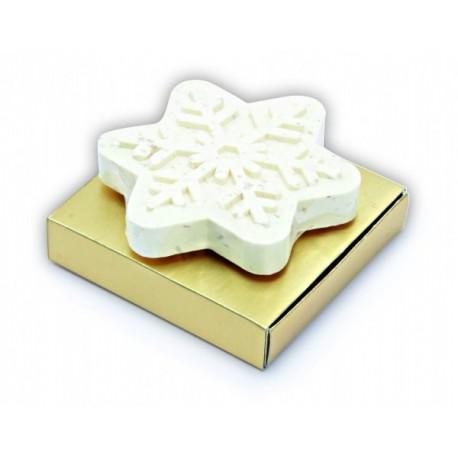 Jabón con la forma de copo de nieve, detalles para navidad
