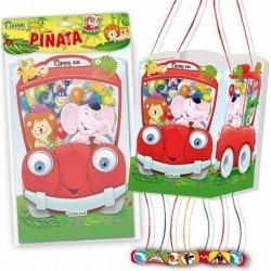 Piñata animalitos en coche