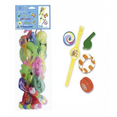 Bolsa con 20 juguetes para Piñatas
