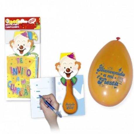 Invitacion de cumpleaños con globo