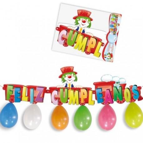 Set decoración para cumpleaños con cartel y globos