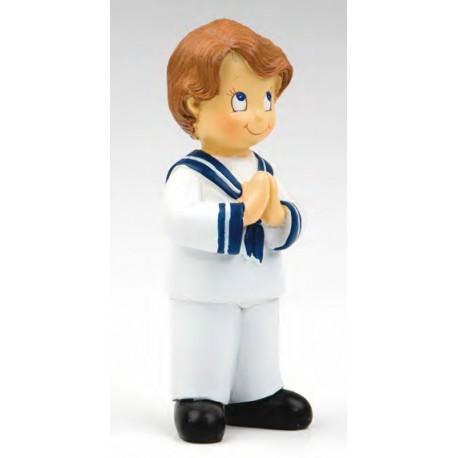 Figura para tarta de Comunión, niño marinero rezando