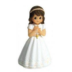 Figurita niña Comunión con fajín y rosario
