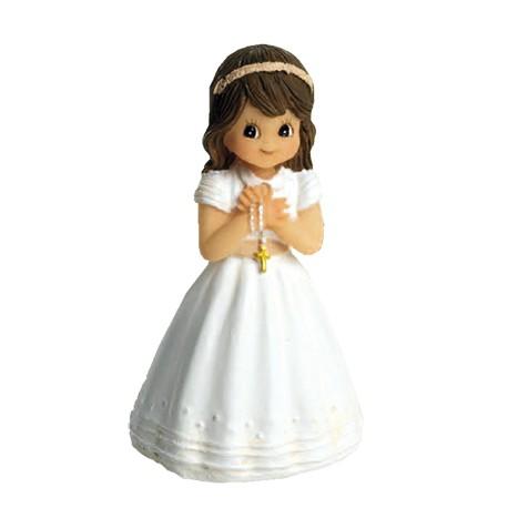 Figura niña Comunión con fajín y rosario