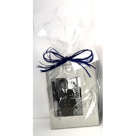 Marco de fotos de metal niño Primera Comunión, en bolsa con tarjeta personalizada