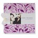 Libro de firmas boda floral violeta