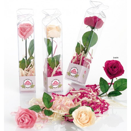 Jabón con forma de rosa, perfumada