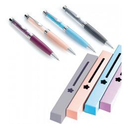 Bolígrafo en metal con perlitas