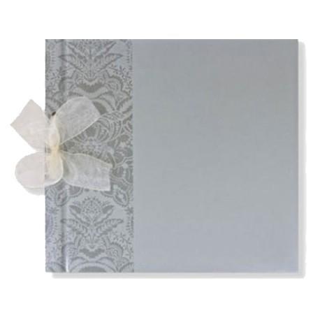 Libro de firmas boda Barroco plata