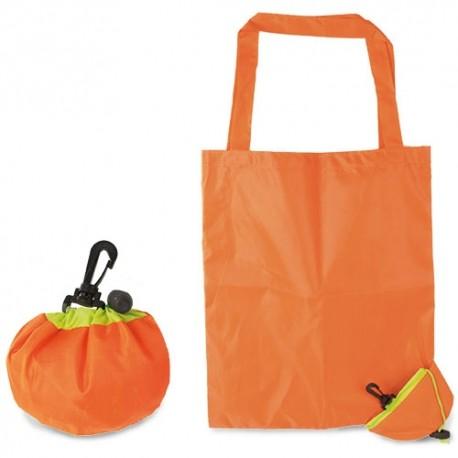 Bolsa de compra plegable, con forma de naranja
