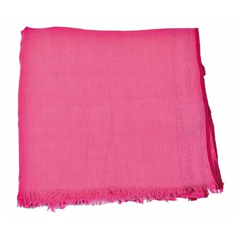 Pashmina en algodón paradise, color fucsia