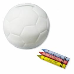 Hucha balón para colorear con ceras