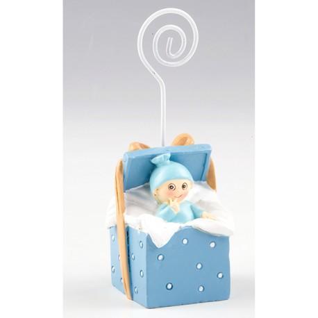 Clip Portafotos niño bebé en cajita