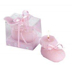 Vela patuco rosa perfumada, caja regalo