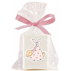 Jabón bebe pañuelo rosa