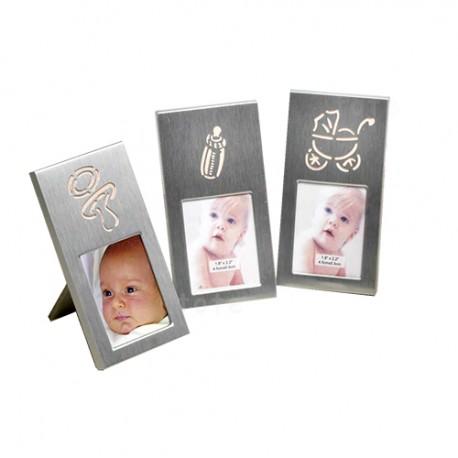 Marco de fotos detalles bebé rosa