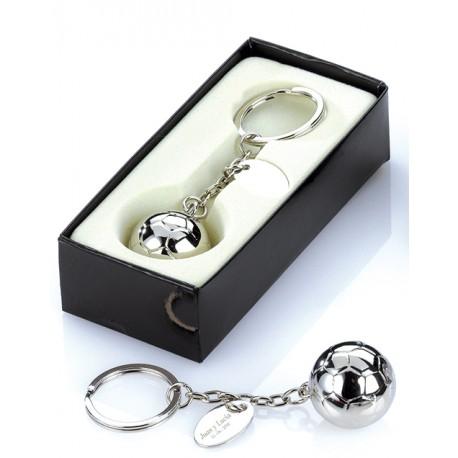 Llavero balón fútbol en caja regalo, detalles para ellos