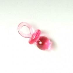 Bolsa con 12 chupetes pequeños rosa