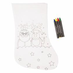 Calcetín para pintar detalles navidad
