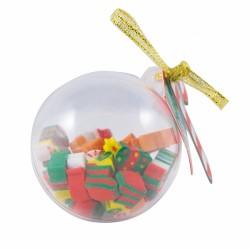 Set con gomas de navidad