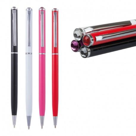 Bolígrafos con detalle cristal en la zona superior