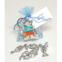 Llavero Pirata en bolsa con caramelos