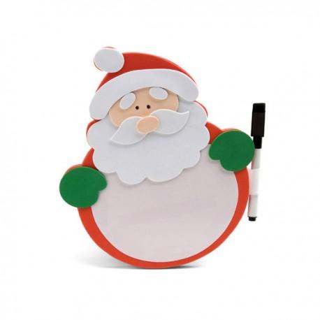 Pizarra goma EVA con forma de Papá Noel