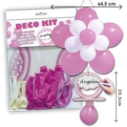Kit globos chupete baby shower niña