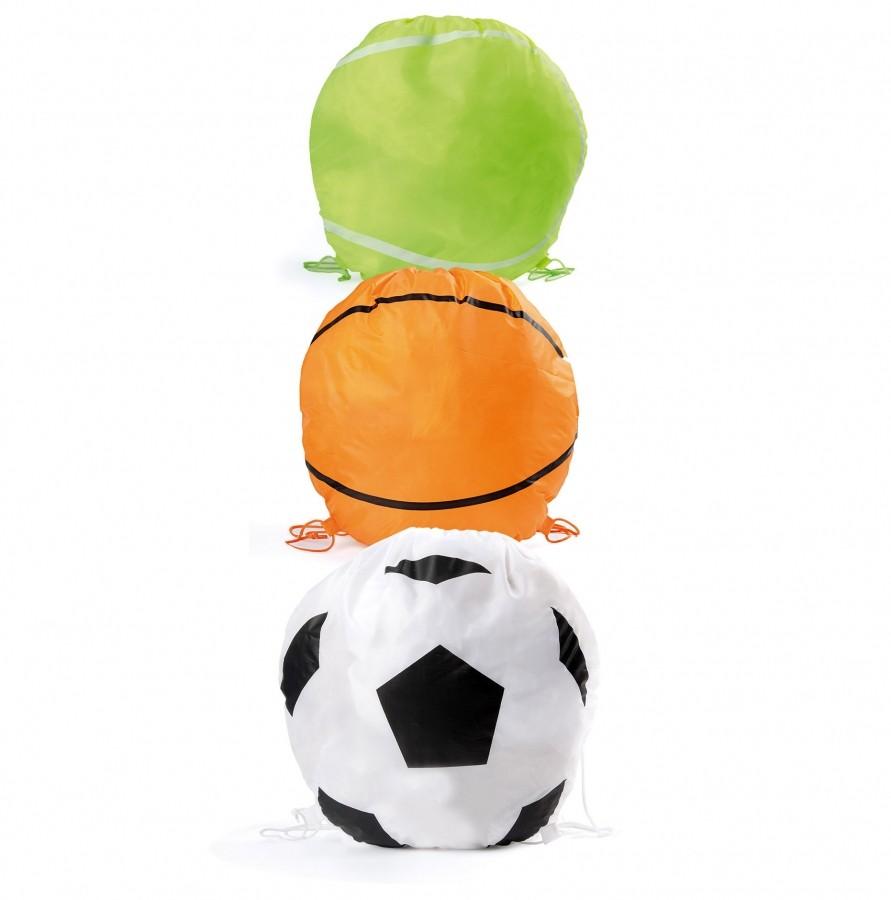 Mochila poliéster con formas de balón   Fútbol, baloncesto o tenis
