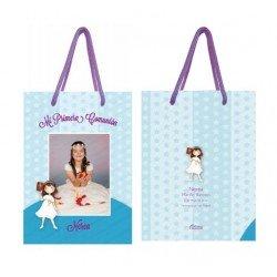 Bolsa personalizada para comunión niña, para entregar los detalles