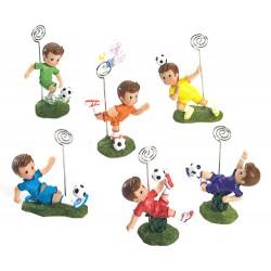 Portafotos clip niño futbolista