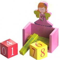 Calendario perpetuo en madera Hada