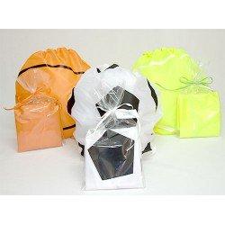 Mochila sport en bolsa y tarjeta personalizada