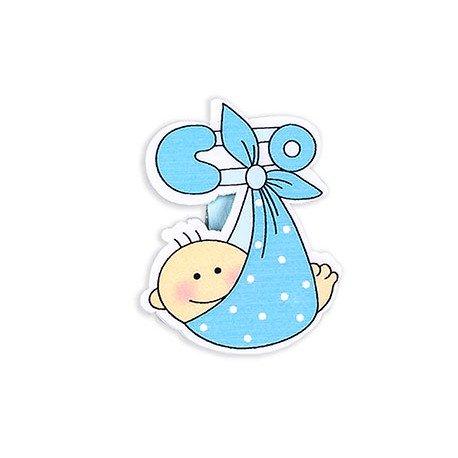 Bolsa 6 pinzas sujeta tarjetas bebé imperdible