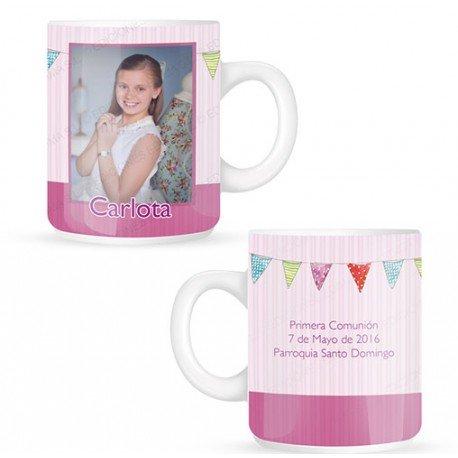 Taza mug niña Comunión personalizada con foto