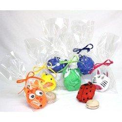 Bolsa con mochila animalitos plegable y yo-yo madera