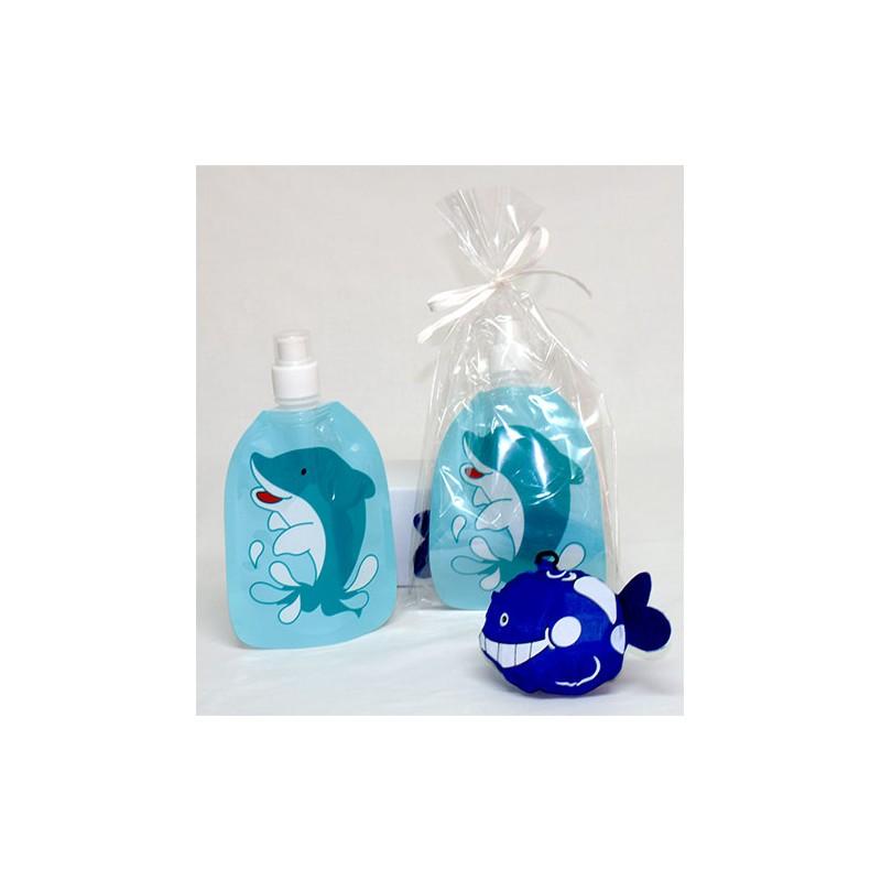 2aacd0537 ... Set de botella plegable infantil y mochila plegable animals. Modelo  delfín ...