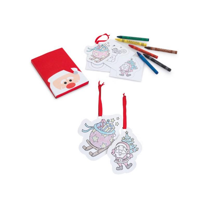 Regalos navideños: colgantes árbol de navidad para colorear