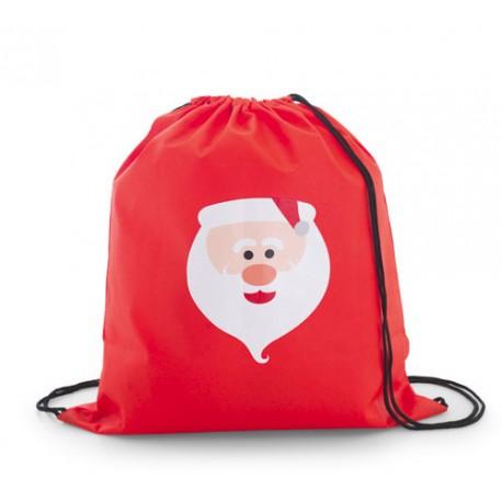 Bolsa mochila infantil con el dibujo de Papá Noel