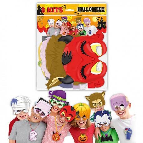 Pack con caretas y collares para Halloween