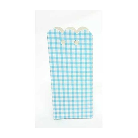 Caja rectangular cuadritos, color azul